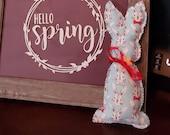 Farmhouse Bunny Rabbit - Spring Easter Decor - Stuffed Rabbit