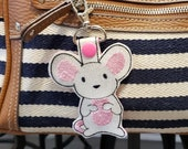 Mouse / Rat Keychain, Luggage Tag, Zipper Pull