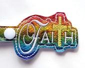Faith Christian Religious Key chain Key Fob, Snap Tab, Zipper Pull, Charm