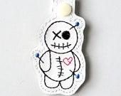VooDoo Doll Keychain, Key Fob, Zipper Pull, Snap Tab