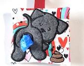 Dog Poop Bag Holder, Waste Bag Dispenser, Rainbow Hearts