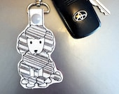 Poodle Dog Key Chain, Key Fob, Zipper Pull - FREE SHIPPING