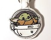 Baby Yoda Star Wars Key Chain, Key Fob, Zipper Pull - Great Stocking Stuffers