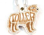 Toller Nova Scotia Duck Tolling Retriever Key Chain, Key Fob, Zipper Pull, Snap Tab