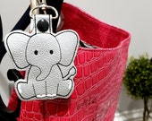 Elephant Key Chain, Key Fob, Zipper Pull - Great Stocking Stuffer