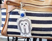 Shih Tzu Dog Key Chain, Key Fob, Zipper Pull - FREE SHIPPING