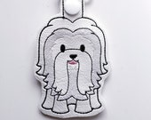 Coton de Tulear Dog Keychain, Luggage Tag, Zipper Pull