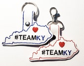 Kentucky #teamky #teamandy #baeshear Key Chain, Key Fob, Zipper Pull, Charm
