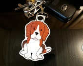 Beagle Key Chain, Key Fob, Zipper Pull