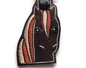 Horse Key Chain, Key Fob, Zipper Pull, Snap Tab