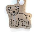 Pit Bull Dog Key Chain, Key Fob, Zipper Pull, Snap Tab