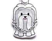 Coton de Tulear Dog Key Chain, Key Fob, Zipper Pull, Snap Tab