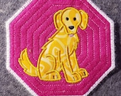Dog Breed Coaster - Embroidered