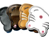 Cat Butt Coasters, Cat Booties, Cat Bums - Set of 4 - Embroidered