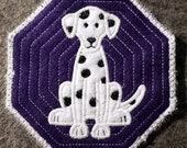 Dog Breed Coaster Set of 4 - Embroidered - Mix & Match