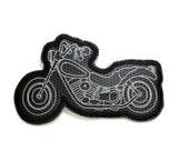 Motorcycle Bike Mug Rug Coaster - Embroidered