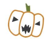 Pumpkin Jack-O-Lantern - Halloween Digital Applique Embroidery Design - 3 Sizes - Instant Download - 9 File Formats