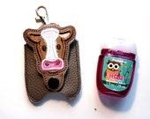 Cow Hand Sanitizer Holder Pouch