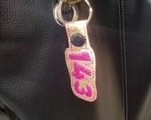 143 I Love You Key Chain, Key Fob, Zipper Pull, Snap Tab