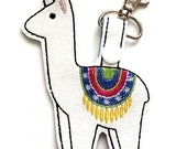 Llama Key Chain, Key Fob, Zipper Pull - Great Stocking Stuffers