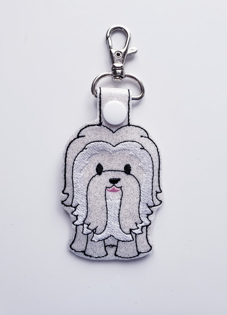 Coton de Tulear Dog Keychain Luggage Tag Zipper Pull image 0