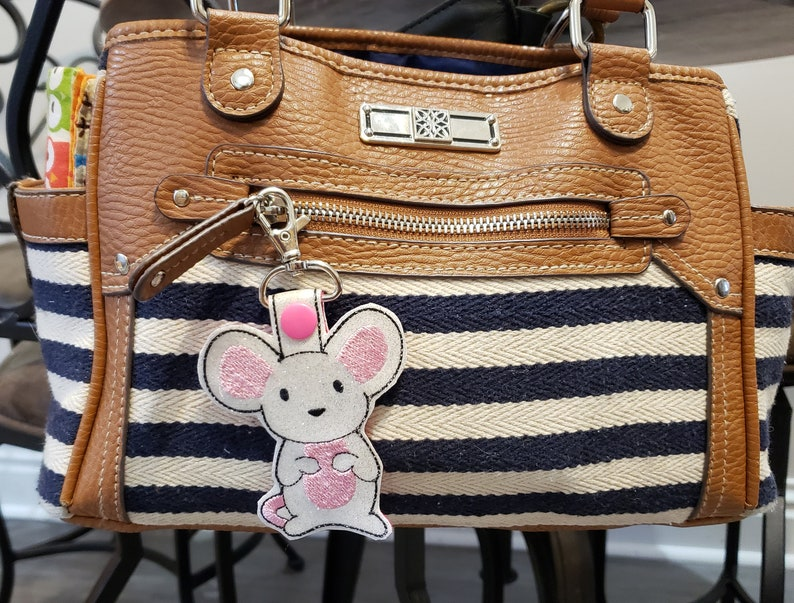 Mouse / Rat Keychain Luggage Tag Zipper Pull image 0