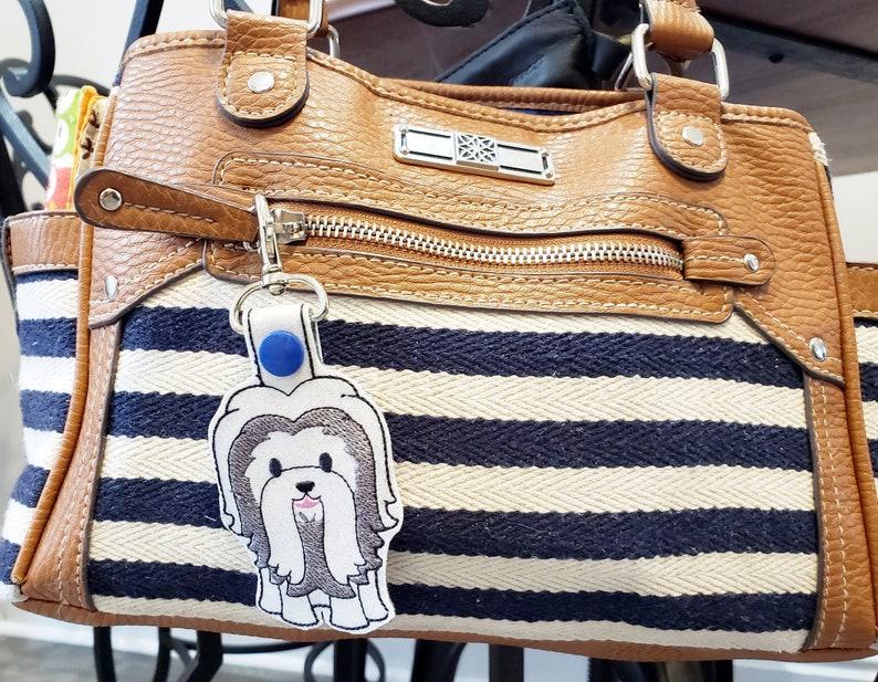 Shih Tzu Dog Keychain Luggage Tag Zipper Pull image 0