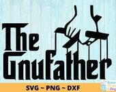 GNU Father svg, png, dxf Instant Digital Download