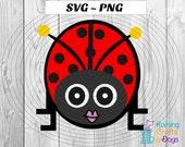 LadyBug svg, LadyBird svg, Love Bug svg, SVG, PNG, cricut, silhouette Digital Download