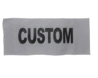 "High Visibility Custom Sew-on Reflective Panels 15"" X 6"""