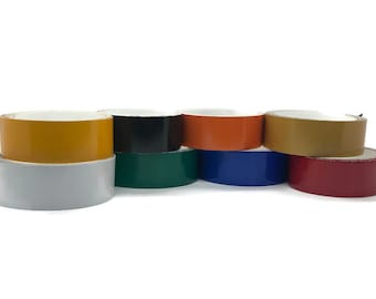 Reflective Vinyl Safety Tape - 1 and 2 inch by 10 feet - 8 colors