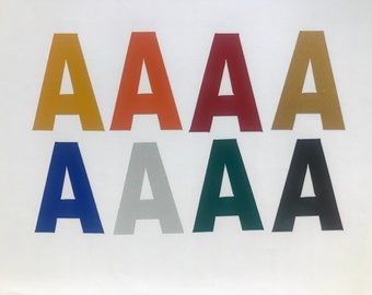 "2"" Inch Custom Reflective Vinyl Letters, 8 colors"