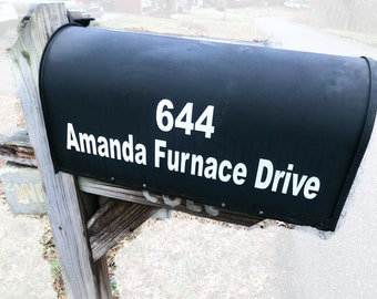 """Custom Reflective Mailbox Address ( 2"""" Letters/Numbers, 8 colors)"""