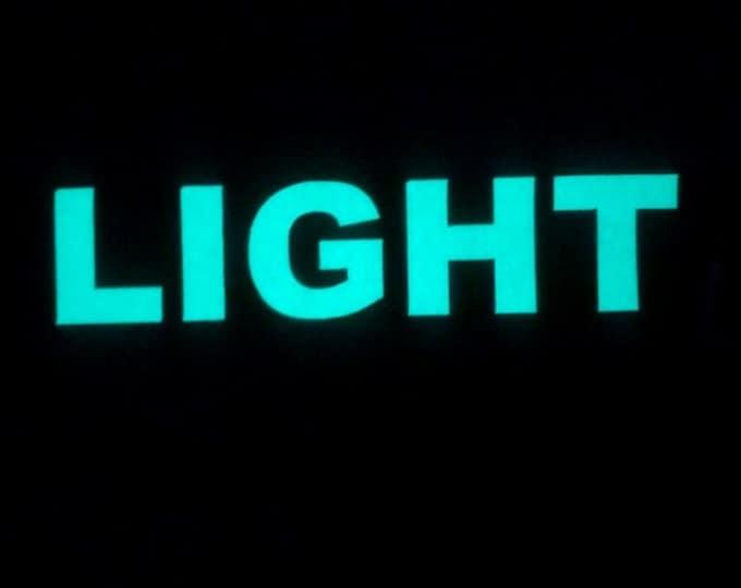 "Custom Glow Letters -1"" high"