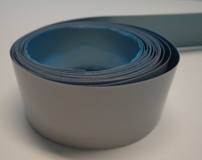 Reflective Iron-On Safety Strip Tape - Hi Visibility  (comes in 1 and 2 inch, sold by the yard)