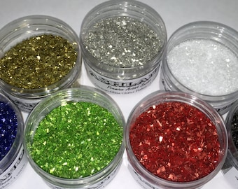 Vintage Glass Glitter - Made with Genuine Silver