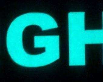 "Custom Glow Letters - 2"" high"