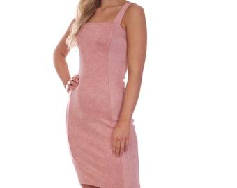 Short Summer Stretch Dress Party Wedding Blush Pink