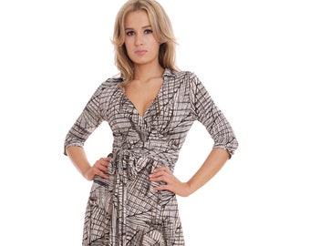 893809d7a85 True Full Length Wrap Dress For Party Wedding Entertaining Retro Style  Pattern