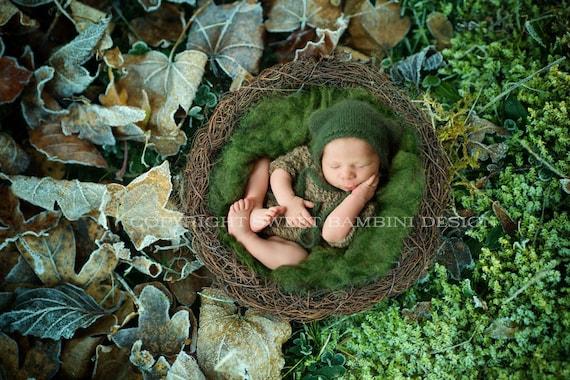 Digital Background Newborn Digital Backdrop Woodland Nest Newborn Baby Nest Digital Photo Prop Foresty Nest High Res jpeg file