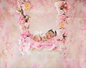 Newborn Digital Backdrop - Alayah swing