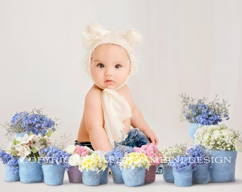 Digital Floral CUT OUT on transparent background for sitting babies - Instant Download, Ready for you to drop straight into your image
