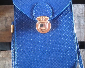 evening bag brilliant blue color