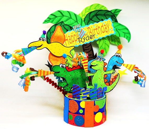 Phenomenal Dinosaurs Birthday Cake Topper Dinosaurs 1St Birthday Etsy Personalised Birthday Cards Paralily Jamesorg