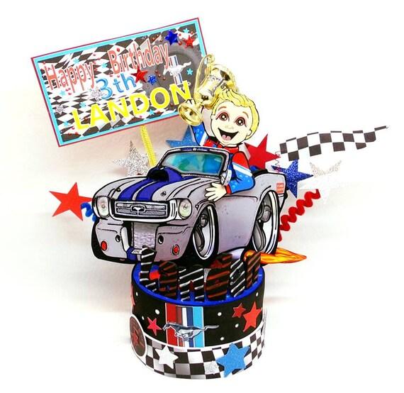 Car Topper Party Formula 1 Birthday