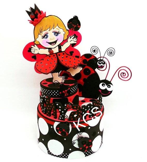 Wondrous Ladybug Party Supplies Ladybug First Birthday Ladybug Cake Etsy Personalised Birthday Cards Cominlily Jamesorg