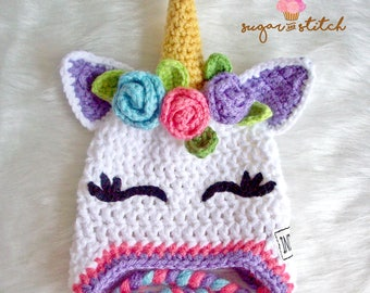 ecee3efabbc Crochet unicorn hat