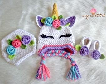 Crochet unicorn hat  e4121dc7c0f
