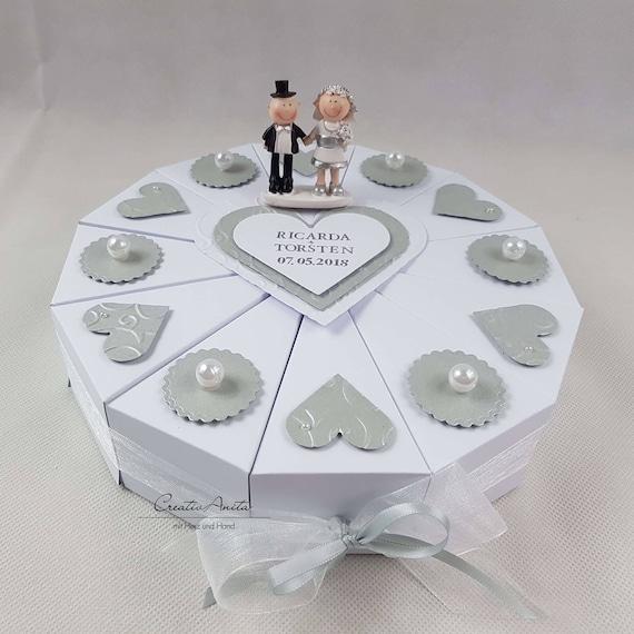 Schachteltorte Torte Silberhochzeit Geldgeschenk