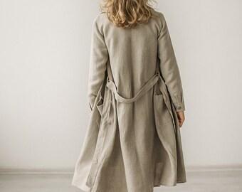 b396580dd111 Linen trench coat